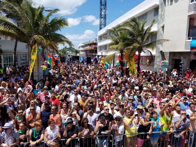 Crowd at Miami Beach Gay Pride