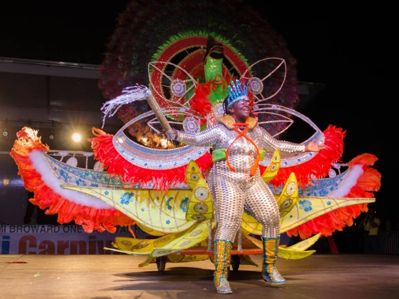 Performer at Miami Broward One Carnival