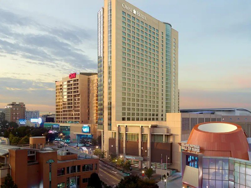 The Omni Atlanta Hotel at CNN Center is a four diamond hotel with amazing views of downtown Atlanta.