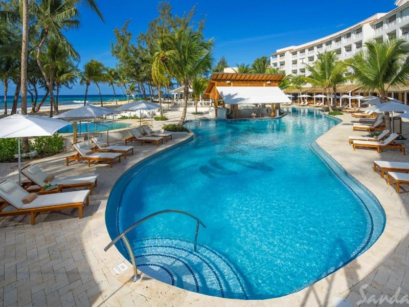 Pool view at Sandals Barbados