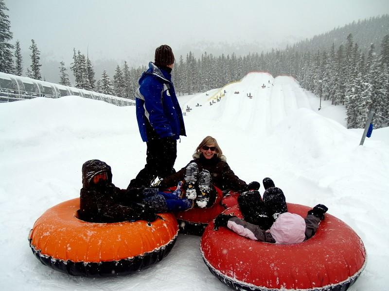 snow tubing at Keystone Resort
