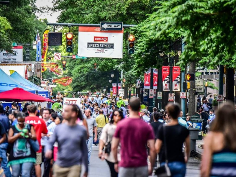 Speed Street is a 3-day festival leading up to the Coca-Cola 600 Race in Charlotte.