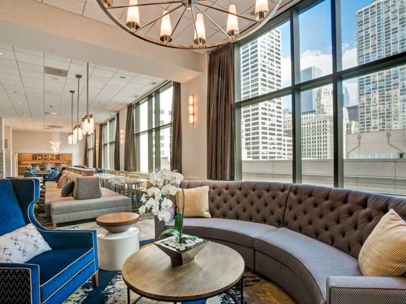 Seating area at  Homewood Suites by Hilton Chicago Downtown