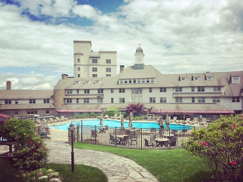 Going up to the Pocono Manor Resort & Spa