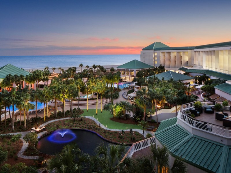 The Westin Hilton Head Resort and Spa offers oceanfront views and several outdoor swimming pools.