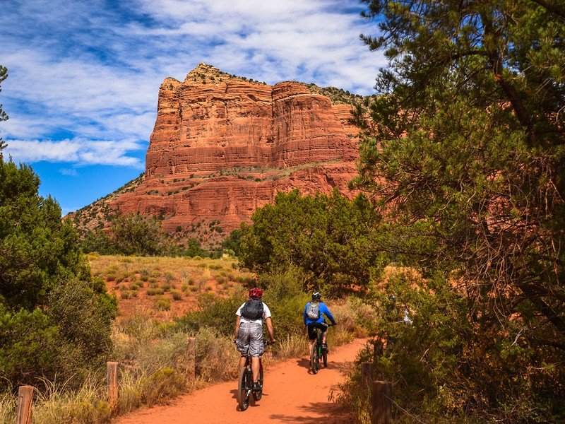 Sedona has lots of opportunities for outdoor recreation including hiking and mountain biking.