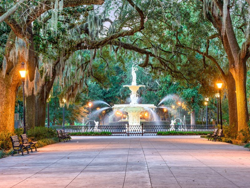 Savannah is famous for its beautiful squares, cobblestone streets and giant Spanish moss.