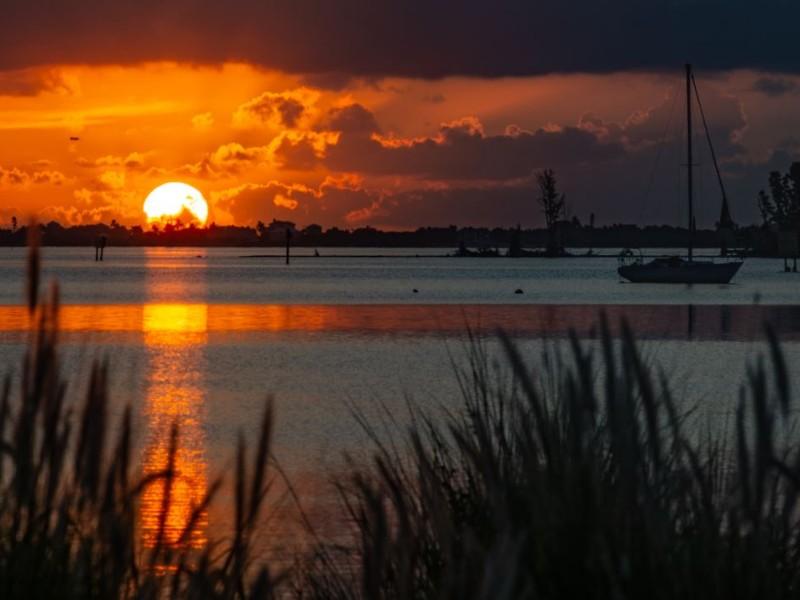 The Pelican Island Sunset Cruise sets sail at 4 p.m. from Capt. Hiram's Marina.
