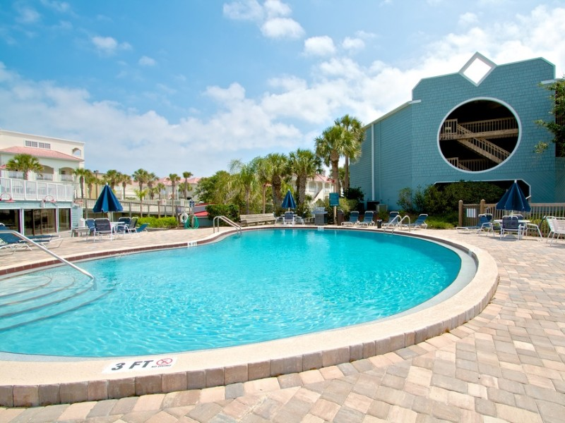 Amenities at the Hibiscus Resort include three swimming pools.