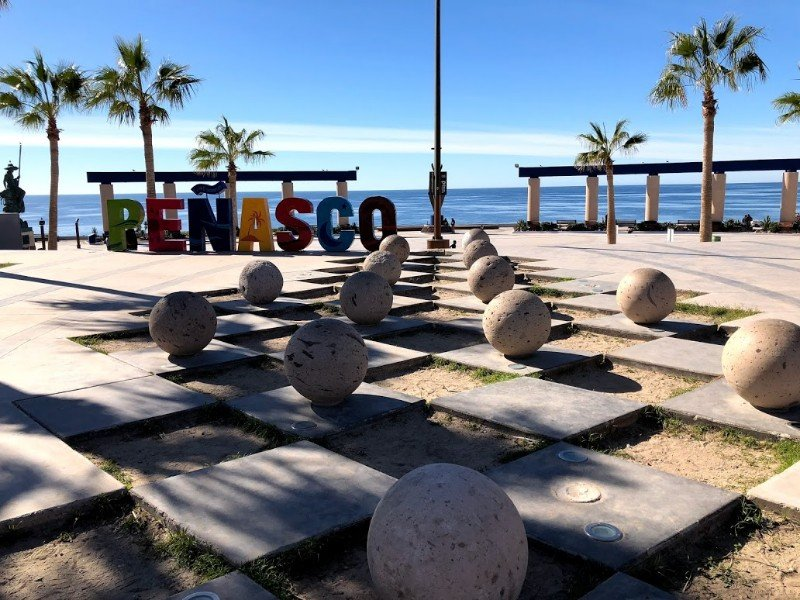 Sign by the beach at Puerto Peñasco, Sonora, Mexico
