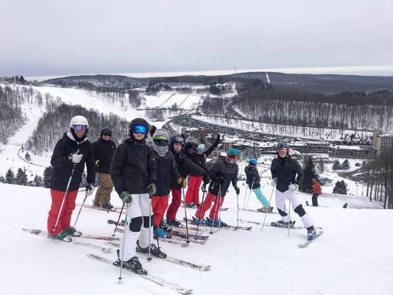Skiers at Seven Springs Mountain Resort, Pennsylvania