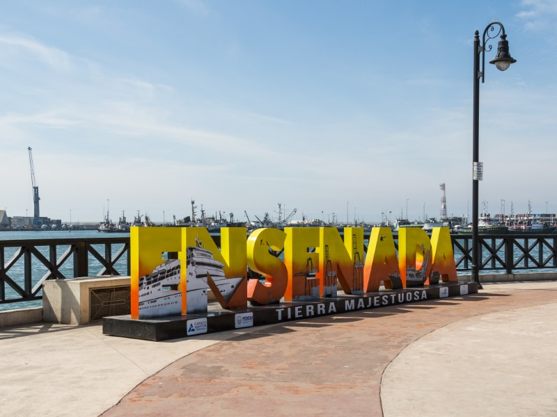 Colorful sign on Ensenada Harbor, Ensenada, Mexico