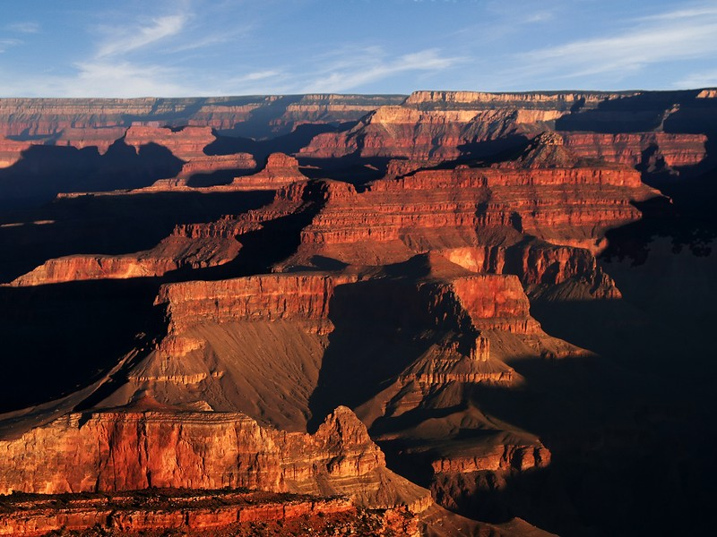 The Grand Canyon is a massive 277 miles long, 18 miles wide and 1 mile deep.