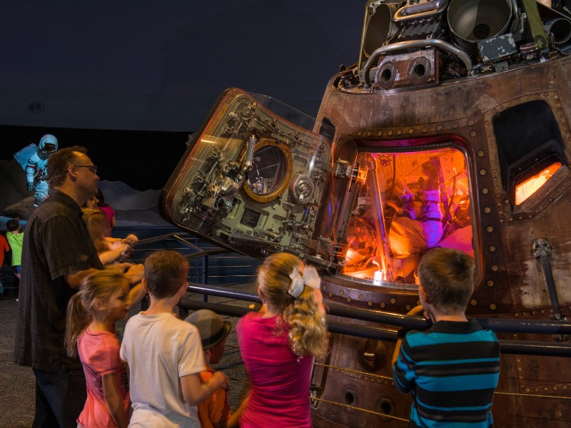 Space enthusiasts can get an up-close look at spaceshuttles, spacesuits and more at the Houston Space Center.