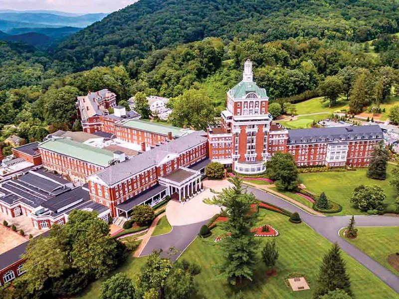 The Omni Homestead is spread across 2,000 acres in the Allegheny Mountains of Virginia.