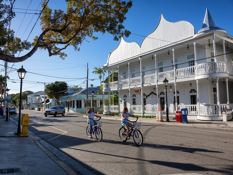 Popular Duval Street in Key West is full of shops, restaurants and nightlife.