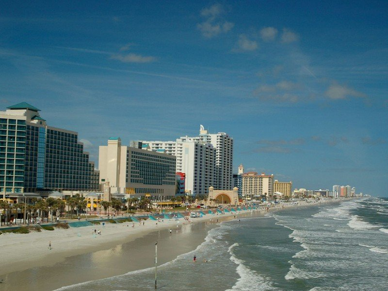 In Daytona Beach, you can relax on the beach, stroll down the boardwalk and take in the action at a live NASCAR race.