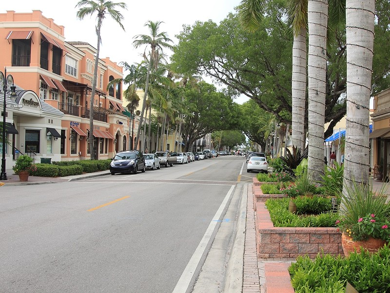 Naples is home to many delicious seafood restaurants and quaint shops.