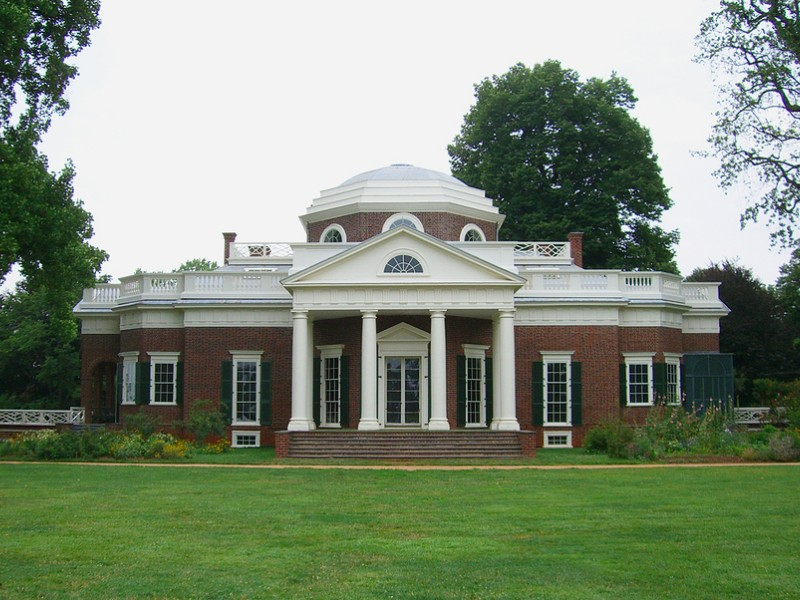 Monticello, in Charlottesville, VA, is the home of the third President of the United States.
