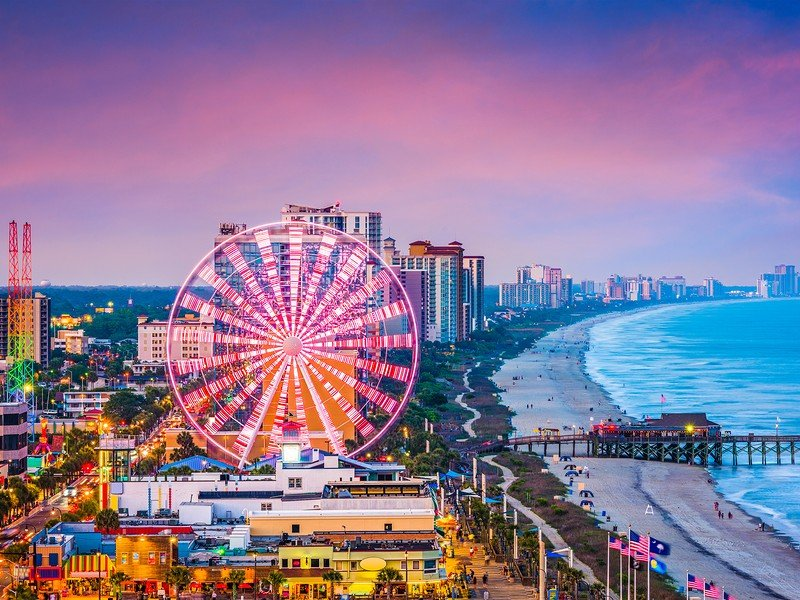 There's tons of things to do in Myrtle Beach including shops, nightlife, amusement rides and more.