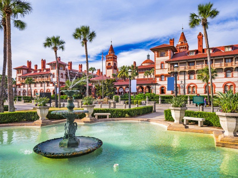 St. Augustine, the nation's oldest city, is full of beautiful Spanish-style architecture.