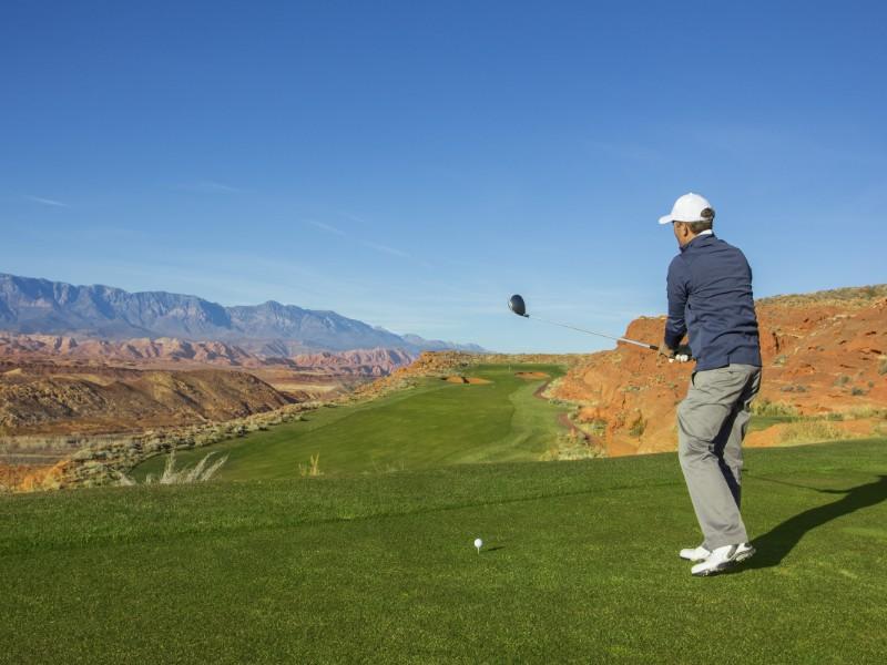 Desert golf course in the Southwestern U.S.