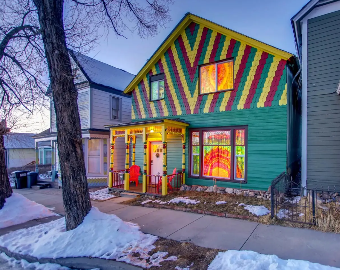 Airbnb The Happy Hippie Tie Dye House, Leadville, Colorado