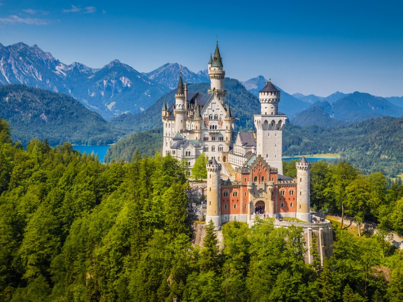 Beautiful view of world-famous Neuschwanstein Castle