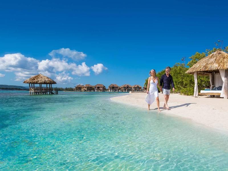 beach at Sandals Royal Caribbean, Montego Bay, Jamaica