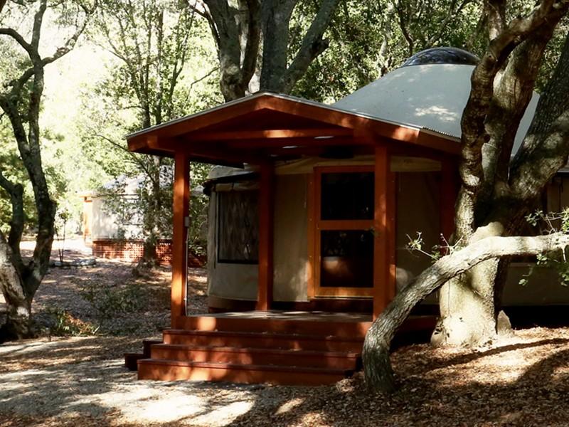 Camping cabin, 'glamping' at Wellspring Ranch