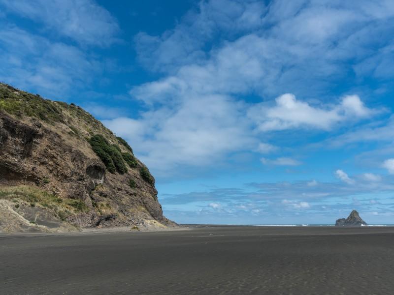 Karakare black sand beach near Auckland, New Zealand