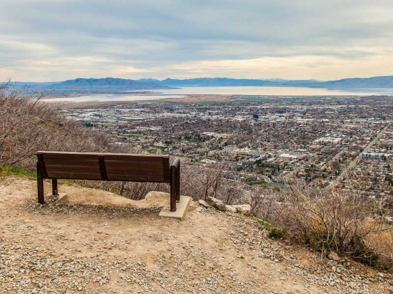 The lonely bench, Provo, Utah