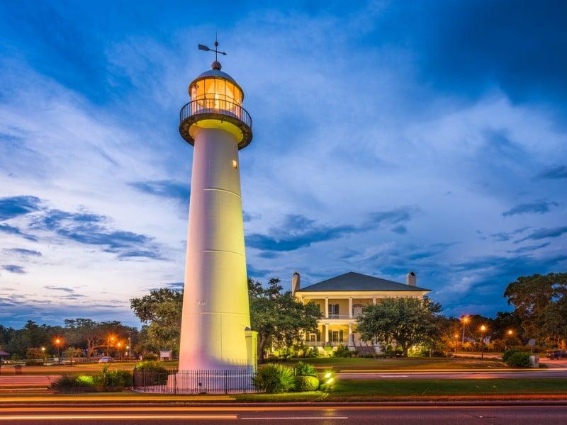 Lighthouse at Biloxi, Mississippi