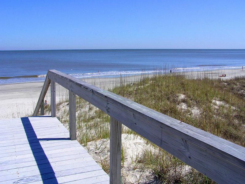 Boardwalk to the beach Jekyll Island