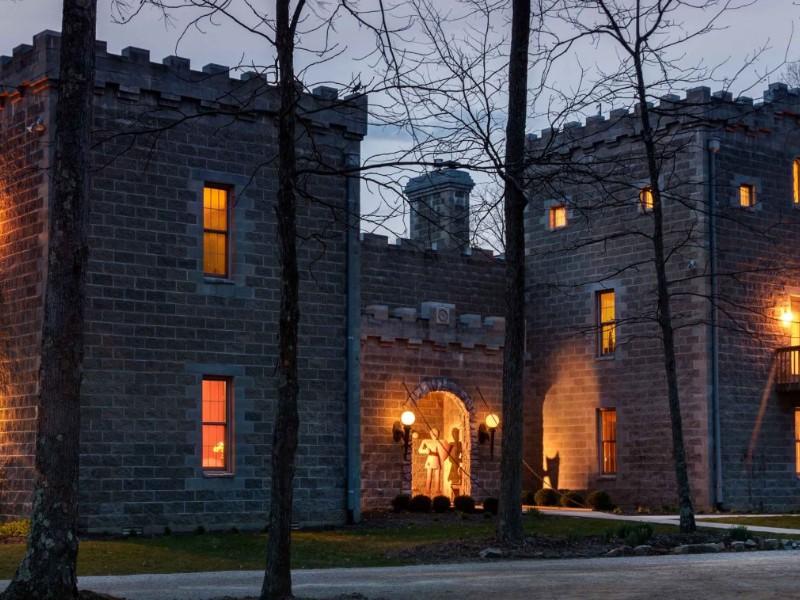 Ravenwood Castle at night