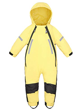 teyiwei Childrens Waterproof Rainsuit,Unisex Kids Overall Raincoat,Breathable,Taped Seam Coverall Outdoors Rain Suit for Boys and Girls Pink 3-5 Years Old