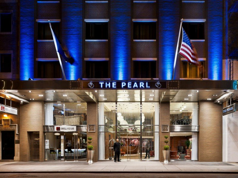 entrance to The Pearl Hotel in New York City