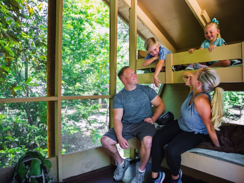 Inside the treehouses at Treehouse Point