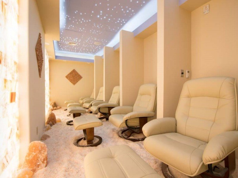 Salt therapy room at Kalahari Resorts (Sandusky, OH)