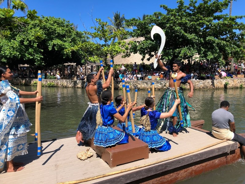 Water performance at Polynesian Cultural Center