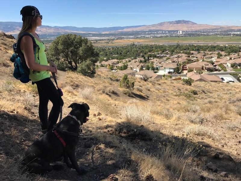 Hiking outside Reno