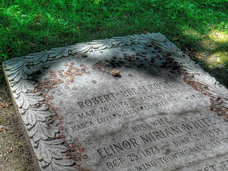 gravestone of Robert Frost, Bennington, Vermont