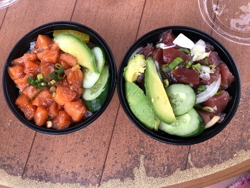 Poke bowls for lunch