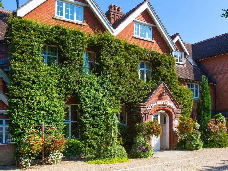 Exterior of Grasmere House Hotel, Salisbury UK