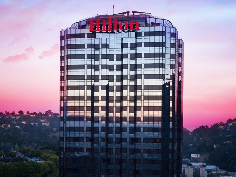 Hilton Los Angeles / Universal City at sunset