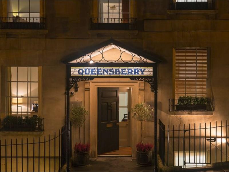 entrance to Queensbury Hotel, Bath, UK