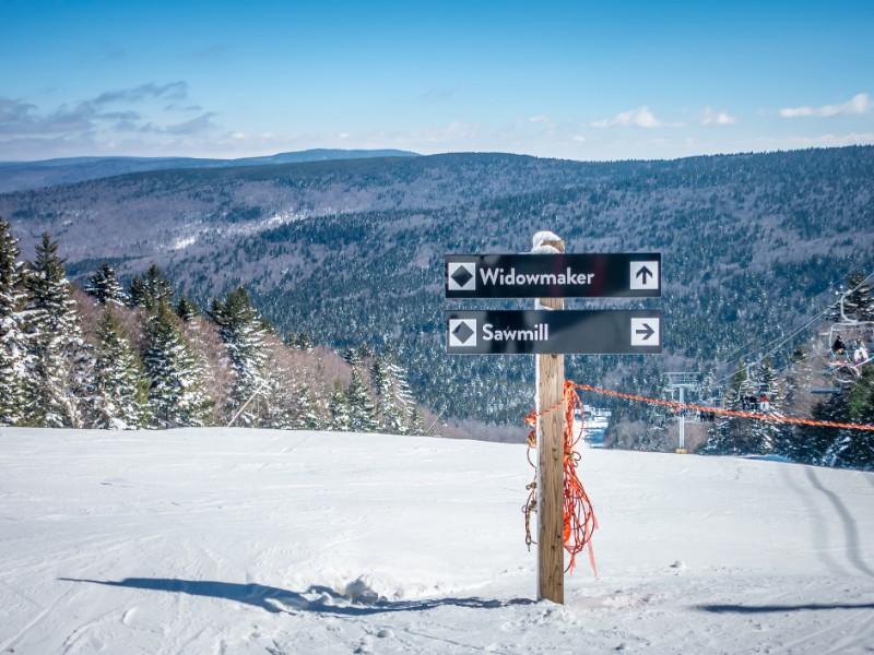 Beautiful nature and scenery around Snowshoe Ski Resort in west Virginia