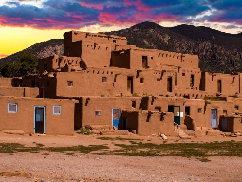 Exterior of Taos Pueblo