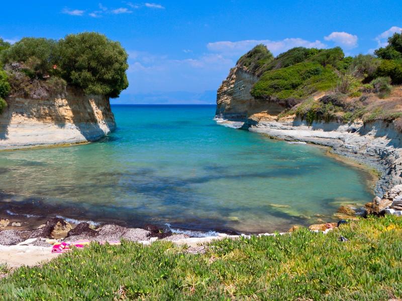 Canal d' amour beach, Corfu, Greece