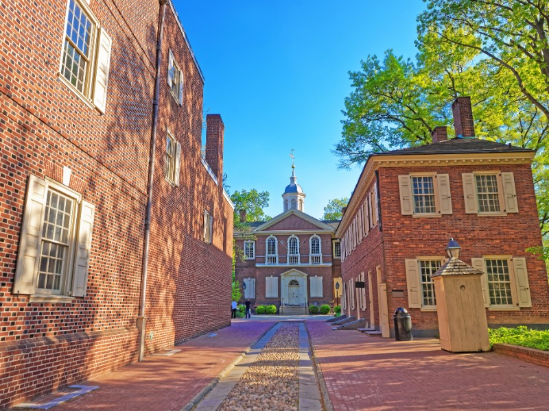 Carpenters Hall in the Old City of Philadelphia